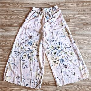H&M Flower Sheer Palazzos